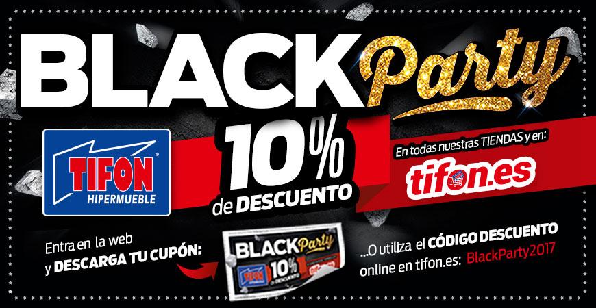 BLACK PARTY en Tifón Hipermueble ¡¡El mejor Viernes Negro del mueble!!