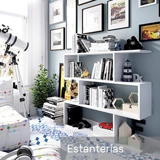 estanterías habitación juvenil