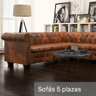 sofás cinco plazas